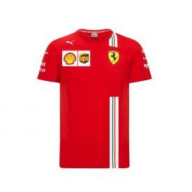 T-shirt FERRARI Team 2020 rouge pour homme