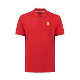 Polo FERRARI Classic rouge avec badge pour homme