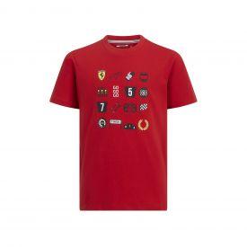 T-shirt FERRARI Graphique rouge pour enfant