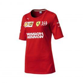 T-shirt FERRARI Team 2019 rouge pour femme