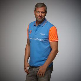 Polo GULF Racing bleu colbalt pour homme