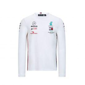 T-shirt manches longues MERCEDES AMG Driver Team 2020 blanc pour homme
