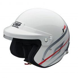 Casque FIA OMP Jet J-R HANS® blanc