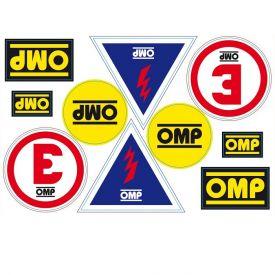 Kit OMP de 10 stickers adhésifs