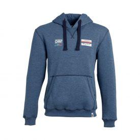 Sweat OMP/RACING SPIRIT à capuche bleu pour homme