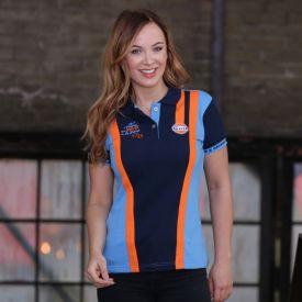 Polo GULF 1st Victory Team bleu foncé pour femme