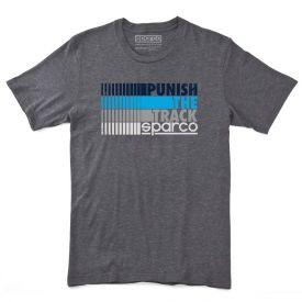 T-shirt SPARCO Circuit gris et bleu pour homme