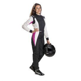 Combinaison FIA SPARCO Competition RS-5.1 Lady noir/blanc/rose