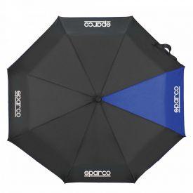 Parapluie SPARCO pliable bleu avec lampe intégrée