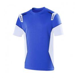 T-shirt SPARCO Skid bleu et blanc pour homme