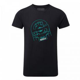 T-shirt SPARCO Tron II noir pour homme