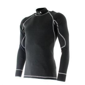 T-shirt FIA manches longues TURN ONE Pro noir/gris