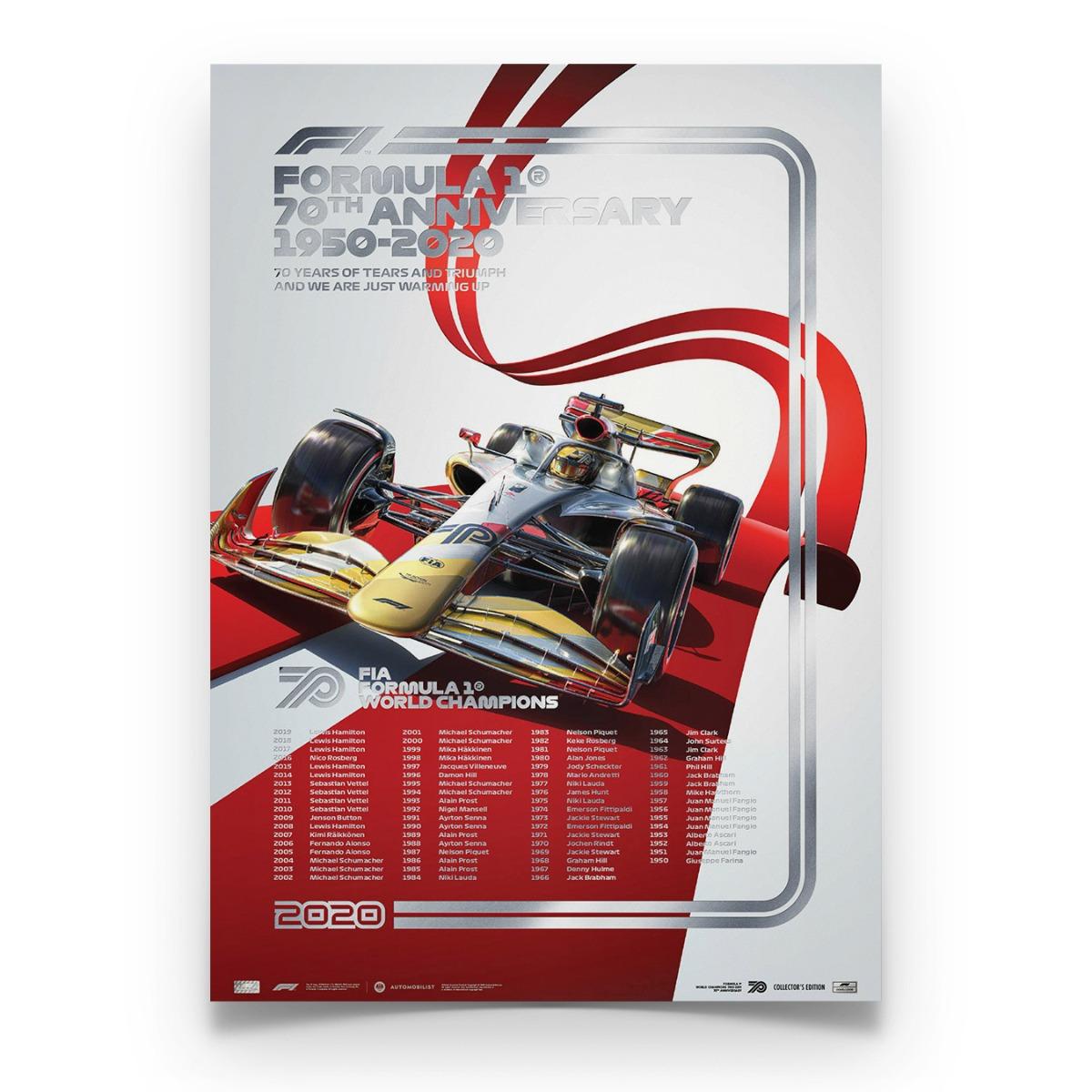 FIA FORMULA 1® World Champions 1950-2019 - 70th Anniversary