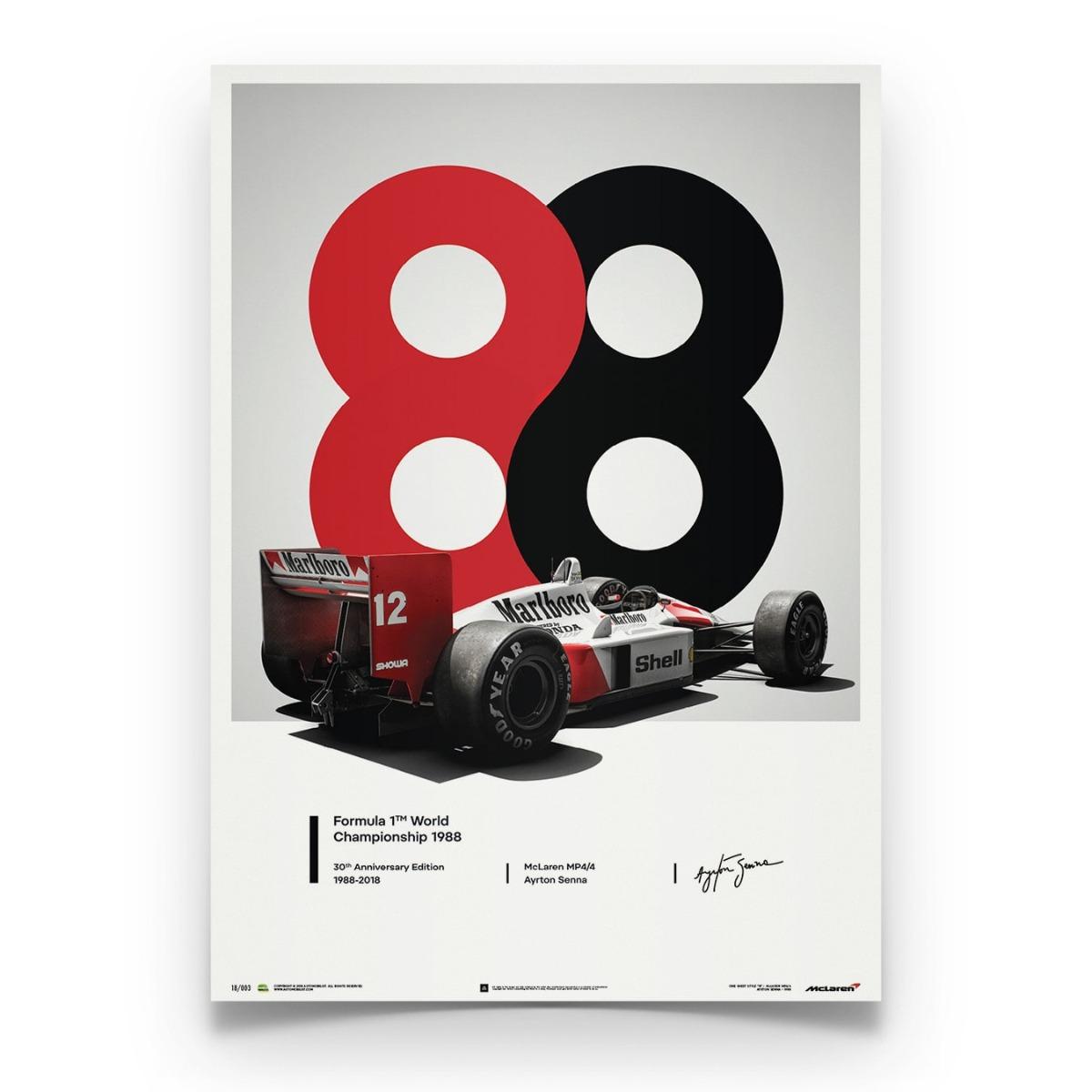 McLaren MP4/4 - Ayrton Senna - 1988 - San Marino GP - 1988