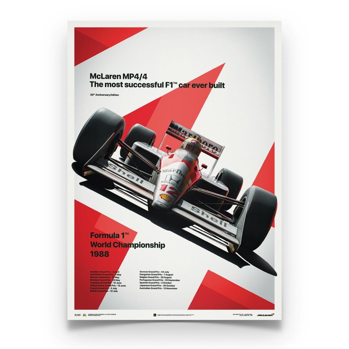 McLaren MP4/4 - Ayrton Senna - MP4/4 - San Marino GP - 1988