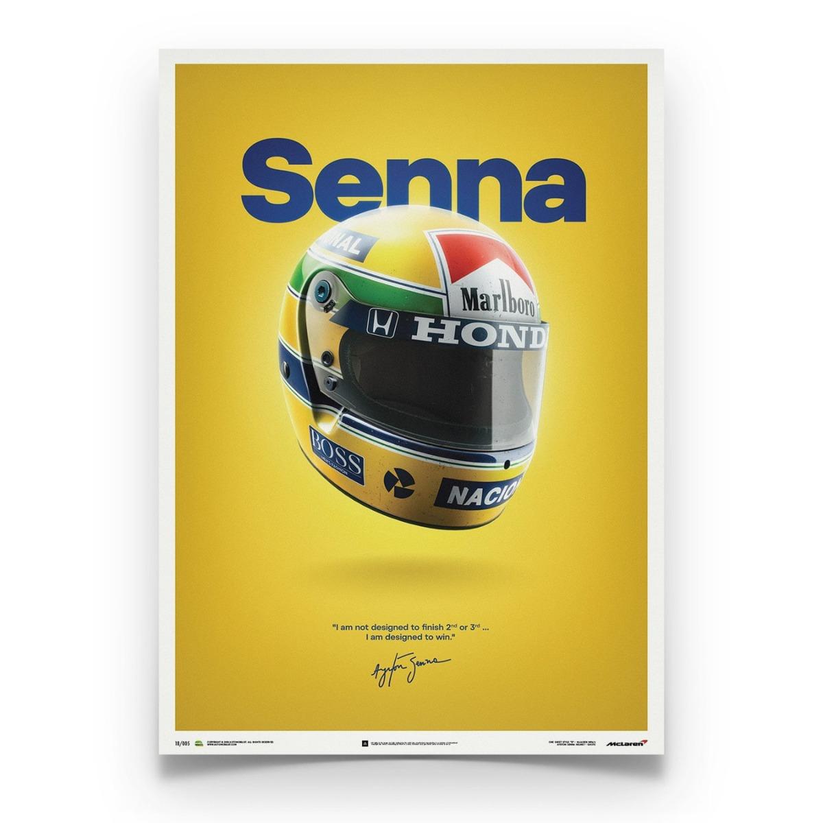 McLaren MP4/4 - Ayrton Senna - Helmet - San Marino GP - 1988