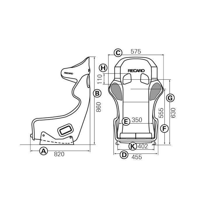 Recaro Pro Racer Spa Carbon Kevlar Fia Race Seat By Recaro At